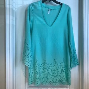 Beautiful Kenneth Cole Reaction Mint Swim Cover Up